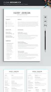 Resume Word Template Modern Resume Template Modern Professional For Word Cover Letter