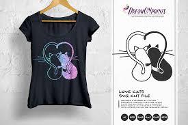 # png file svg file eps file cdr file. Love Cats Svg Valentine Cat Svg Couples Svg 195105 Illustrations Design Bundles Svg Dxf Design Bundles