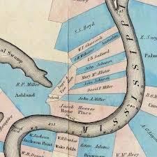 Lower Mississippi River Charts Normans Chart Of The Lower Mississippi River 1858 Image
