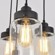 large glass pendant light. Unitary Brand Vintage Large Glass Jar Pendant Light Max 300w With 5 Lights Painted Finish H