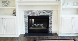 modernize your fireplace with a metal tile surround