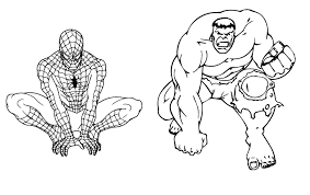 Small Picture Hulk Coloring Pages Cartoon Printable Marvel Tonegif Coloring Page