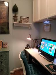 home office in a closet. Home Office Closet Ideas. Ideas White Wooden Computer Desk Wall Cabinet In A