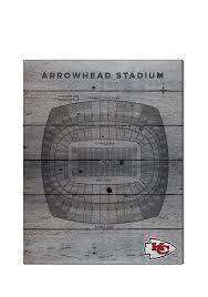 Kansas City Chiefs 16x20 Seating Chart Sign