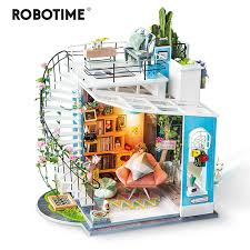 Robotime <b>New DIY</b> Dora's Loft with Furniture Children Adult ...