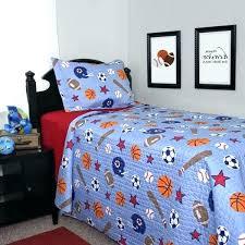 sports comforter twin bed boys bedding set on blue quilt kids team sport star baby boy
