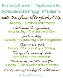 Easter Week Reading Plan With The Jesus Storybook Bible In