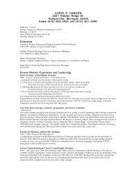 Work Resume Sample. Food Service Resume Professional Education