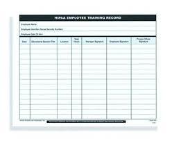 training record template staff training template