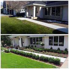 I have not seen the idea previously. Front Home Landscaping in 2020 | Front  house landscaping, Front yard landscaping design, Home landscaping