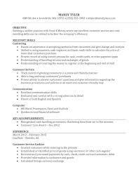 Customer Service Cashier Resume Customer Service Resume Sample
