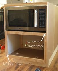 custom microwave cabinet