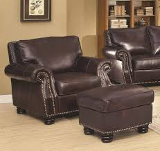 club chair and ottoman. Full Size Of Chair Astounding Dark Brown Leather Coaster Brisco And Ottoman Set By Smith Brothers Club E