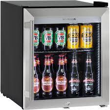 Triple glass door bar fridge tropical rated led lighting and lock glass  door mini fridge hus