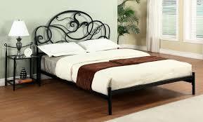 ... Queen sized matt black modern metal bed with nightstand ...
