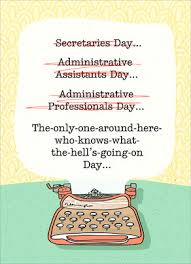 Admin Professionals Day Cards Administrative Typewriter Administrative Professionals Day Card