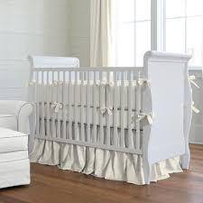 solid ivory crib bedding