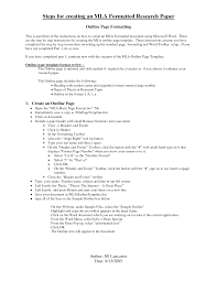 Printable Research Paper Outline Example Marvelous Mla Format Term