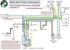 peugeot 102 bicis peugeot puch moped wiring diagram puch wiring diagram 1978 79 6 wire magneto chrome