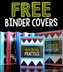 Free Editable Binder Covers And Spines Back To School Organization With Avery Products Free Binder