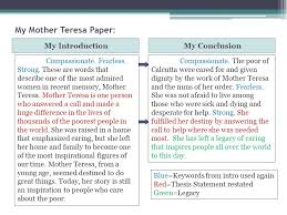 research paper conclusion paragraph ppt video online  my mother teresa paper