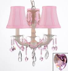crystal chandelier chandeliers lighting w pink shades to enlarge