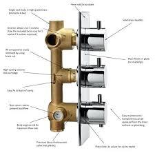 3 shower diverter valve 2 or 3 concealed thermostatic shower valve thermostatic valve with
