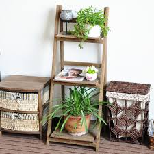 folding plant stand decoration folding wooden plant stand with three shelves wooden flower pot shelf plant