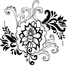 Free Download Vector Clipart Design Clip Art Free Library Hd Drawings Of Floral Designs Flower