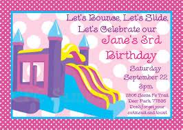 bounce castle birthday party invitation printable or printed bounce house invitations party supplies 128270zoom