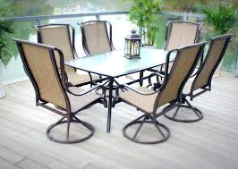 bay patio furniture 7 piece padded sling outdoor dining set hampton home depot perfect wit