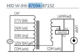hid ballast wiring diagram schematic wiring Ge Hid Ballast Wiring Diagram Electronic Ballast Circuit