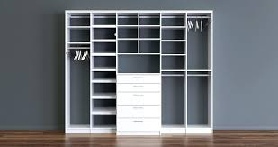 white free standing closet with drawers shelves and rods average cost of california closets design to