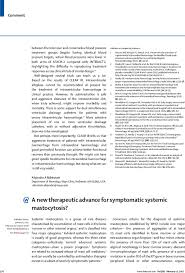 a new therapeutic advance for symptomatic systemic mastocytosis  first page of article