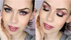 hnědofialovozlaté líčení s colour pop a e style maroon gold evening makeup look you