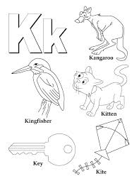 letters colouring pages to print letter k coloring sheets my a z book page