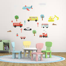 ws5040 nursery city transports  on childrens wall art uk with wall stickers uk wall art stickers kitchen wall stickers
