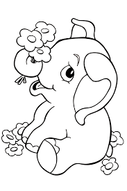 Line Drawings Cute Elephant Coloring Pages Fresh At Decor Animal