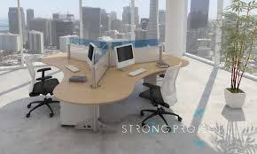 flexible office furniture. 3-Pod Workstation Flexible Office Furniture .