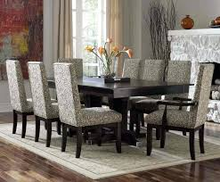 formal dining room sets with dark wood table and chairs round ashley
