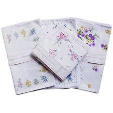 las s white fl handkerchief gift set 4 pack