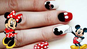 Mickey Ve Minnie Fare Tırnak Tasarımı / Mickey And Minnie Nail Art Tutorial  - YouTube
