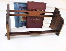 Wooden Book Stand For Display Vintage Book Rack Tabletop Bookshelf Collapsible Display 64