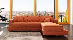 Warm Colored Living Rooms Elegant Brown Leather Sofa Rectangle Warm Brown Woven Rug Orange