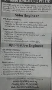 Wanted Sales Engineer And Application Engineer @ Guhring ...