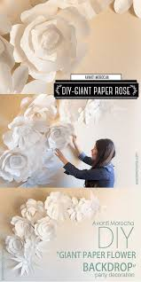 Diy Giant Paper Rose Flower Pin On Diy Wedding Decorations