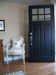 painting exterior door black