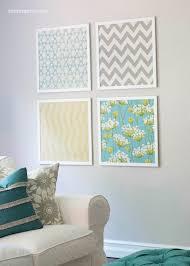 Modern Tutorial A Diy Projects Also Diy Fabric Wall Art Ideas Diy Wall Decor  Ideas in
