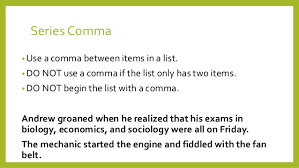 When To Use Comma How To Use Comma Barca Fontanacountryinn Com