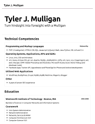 Example Of Simple Resume 68 Images 9 Basic Cv Examples Mailroom